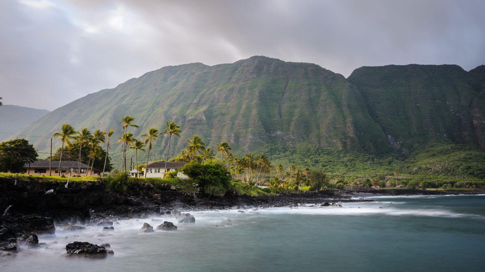 Por um século, a região de Kalaupapa, na ilha de Molokai, no Havaí, foi um local ...