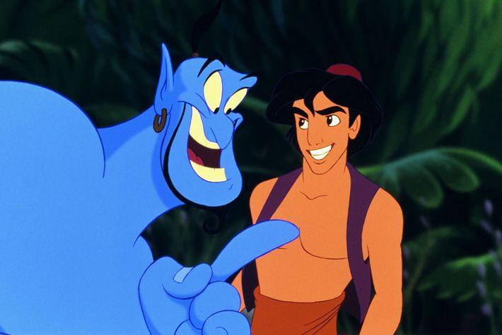 O ator Robin Williams emprestou sua voz para o gênio na icônica animação de Aladdin em ...