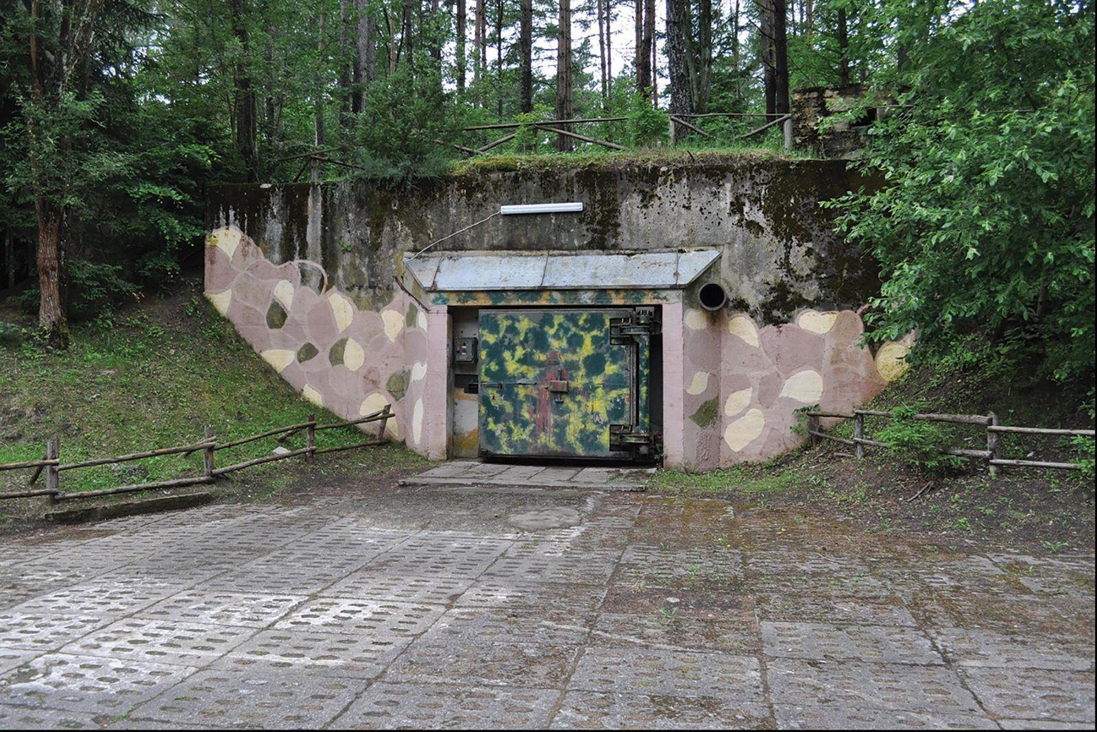 Uma instalação militar em Podborsko. Durante a Guerra Fria, a maioria dos cidadãos poloneses desconhecia a ...