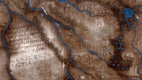 Textos anteriormente ocultos em um mapa de 500 anos revelam novas pistas sobre as fontes e ...