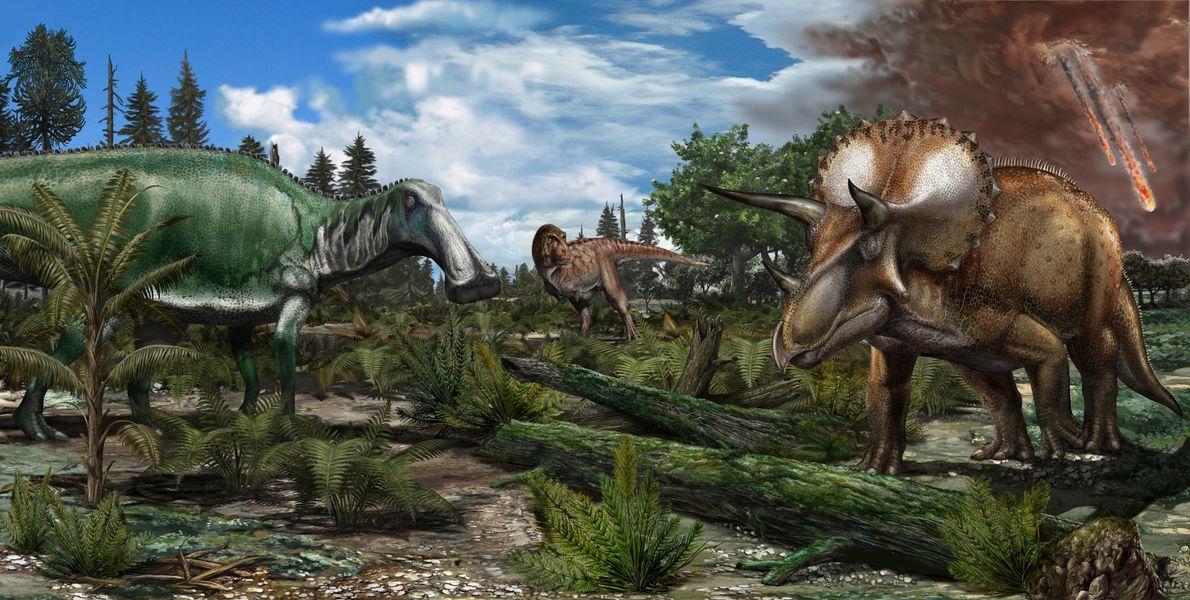 Os dinossauros teriam sido exterminados sem a colisão de um asteroide?