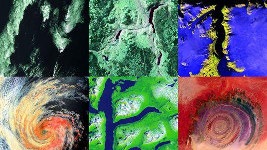 Fotos de satélite revelam alfabeto escondido na superfície da Terra