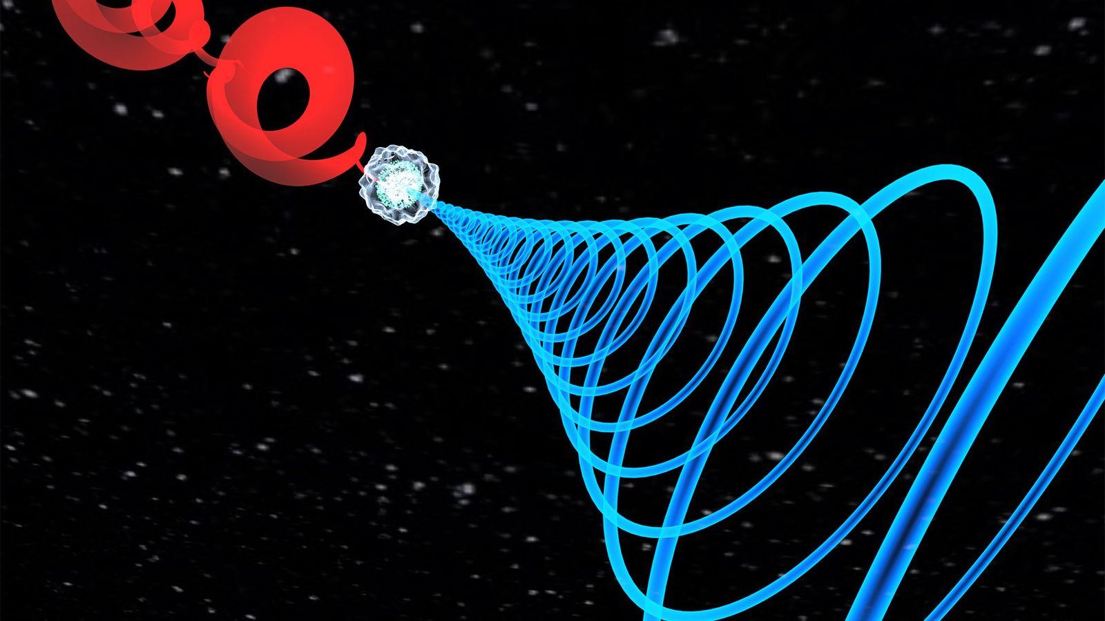 Usando dois pulsos de laser temporizados, lançados em gás argônio, os físicos ópticos descobriram uma nova ...