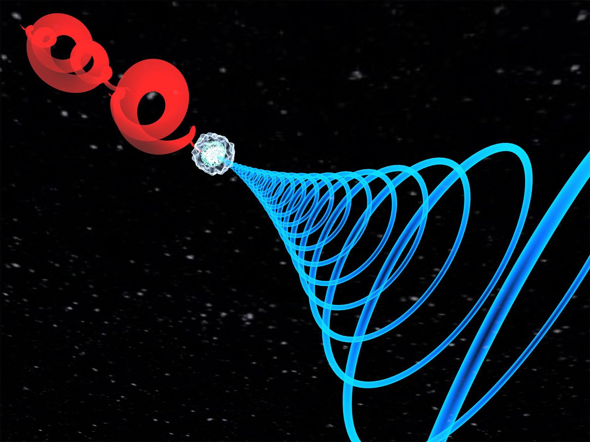 Usando dois pulsos de laser temporizados, lançados em gás argônio, os físicos ópticos descobriram uma nova propriedade da luz chamada autotorque. Esse tipo de laser, quando direcionado a uma superfície lisa, produz uma poça de luz no formato de um croissant.