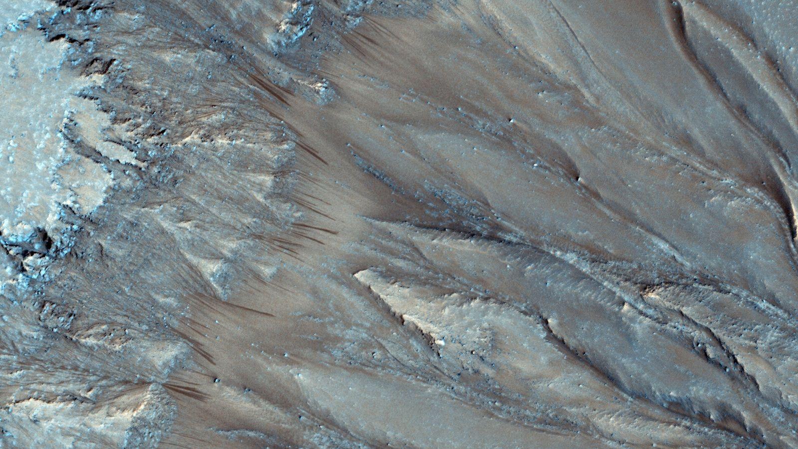 Encostas de Marte