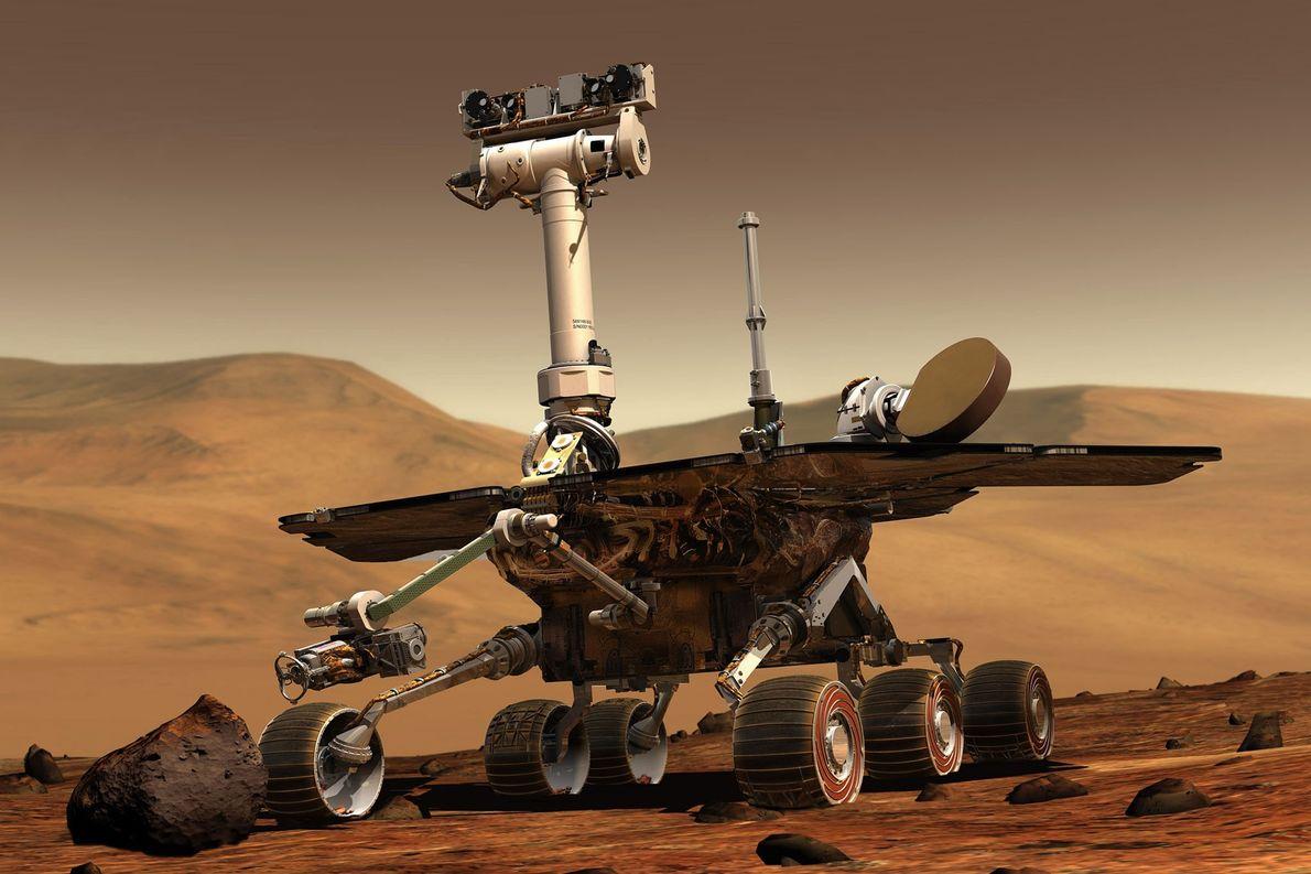 """""""Jipe"""" da Nasa descarrega durante tempestade de poeira em Marte – mas ele ainda não morreu"""