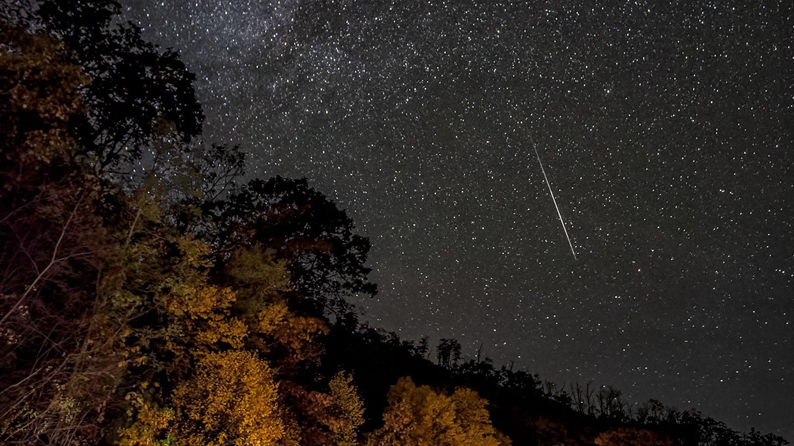 Meteoro das Oriônidas cai no Parque Nacional Shenandoah, no estado americano da Virgínia.
