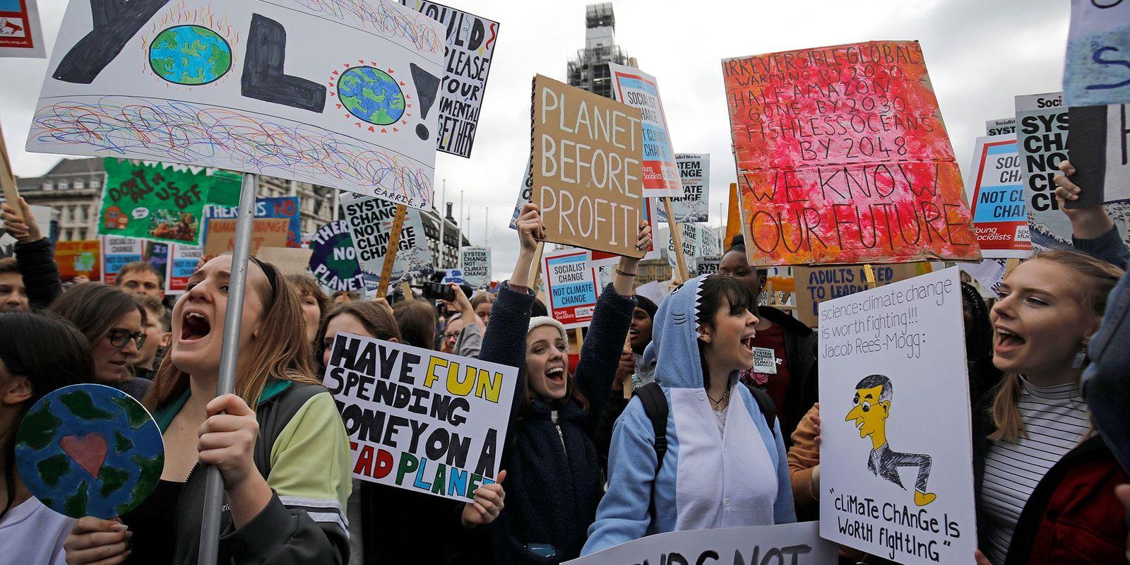"""Jovens em greve contra as mudanças climáticas: """"estamos lutando pelas nossas vidas"""""""