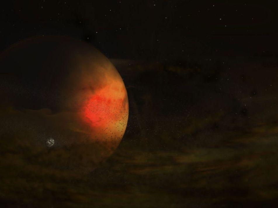 Avistada provável formação de lua alienígena pela primeira vez