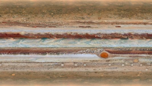 Hubble mostra detalhes da misteriosa mancha vermelha de Júpiter
