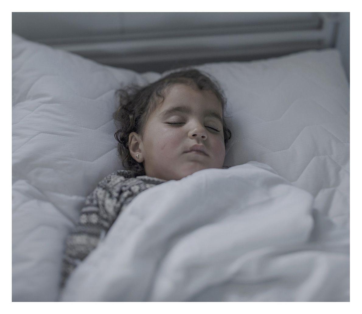 O sono de crianças refugiadas