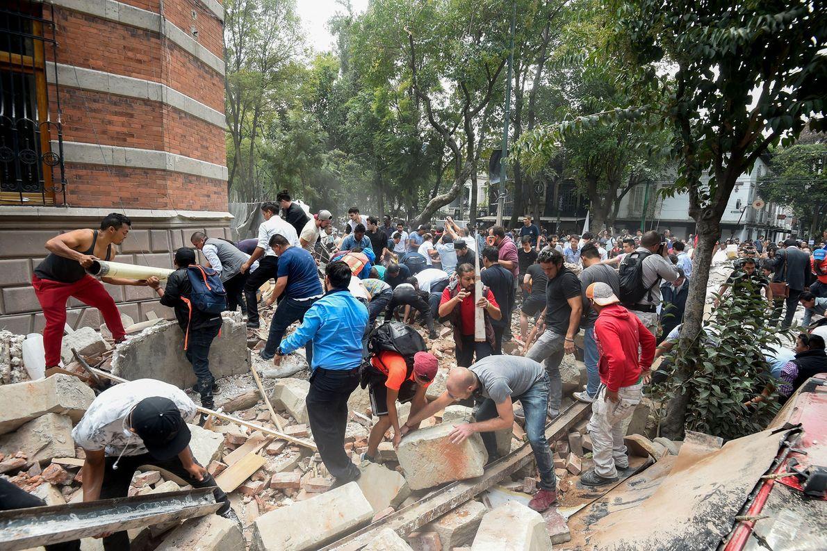 destroços méxico terremoto