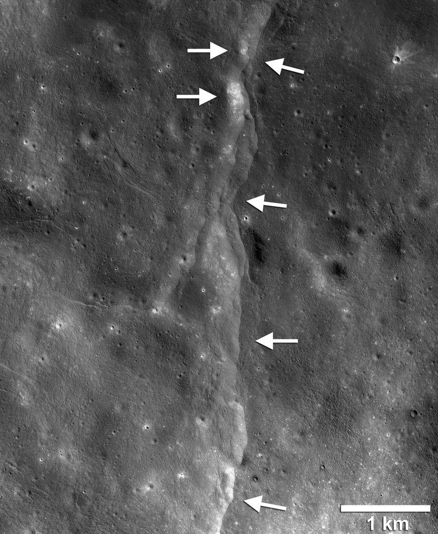 Esse mapa sísmico criado a partir de imagens da NASA demonstra o movimento esperado de um ...