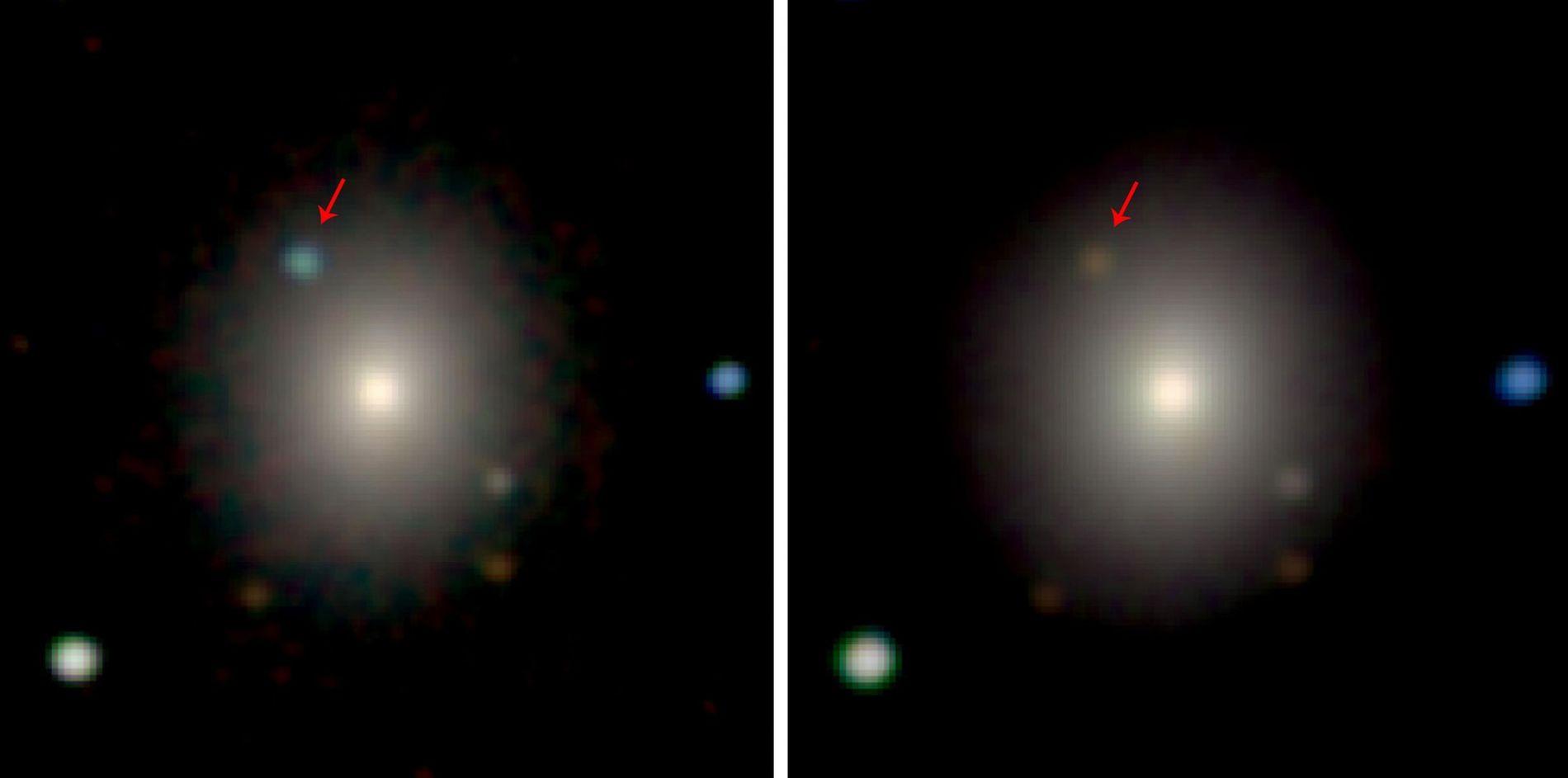 Usando os telescópios Swope e Magellan no Chile, os astrônomos registraram a explosão da estrela de ...