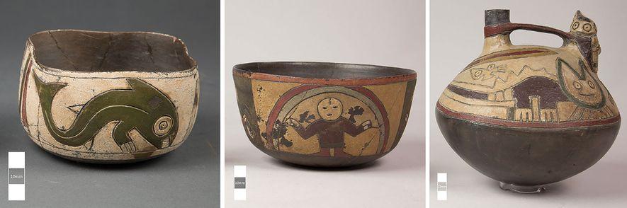 Ao passo que as cores e os desenhos da cerâmica Paracas variavam dependendo da época e ...