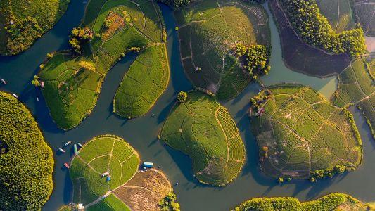 O Vietnã é fascinante – ainda mais visto de cima