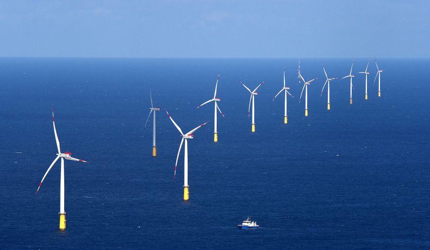 O parque eólico DanTysk, no Mar do Norte, fornece energia carbono-zero para Munique.