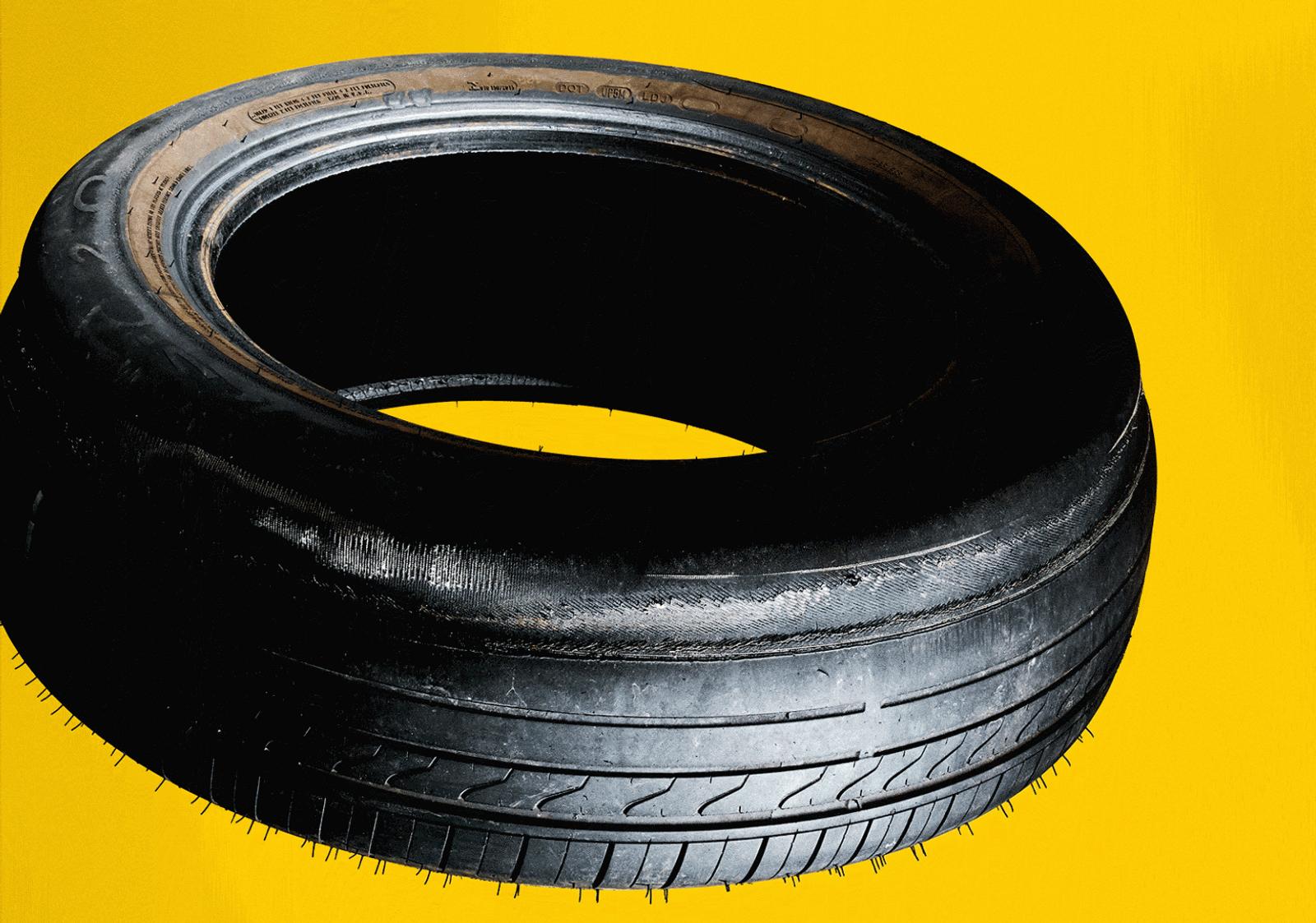 Conforme os pneus percorrem seus quilômetros, eles se desgastam, liberando pequeninos pedaços de plástico sintético – ...