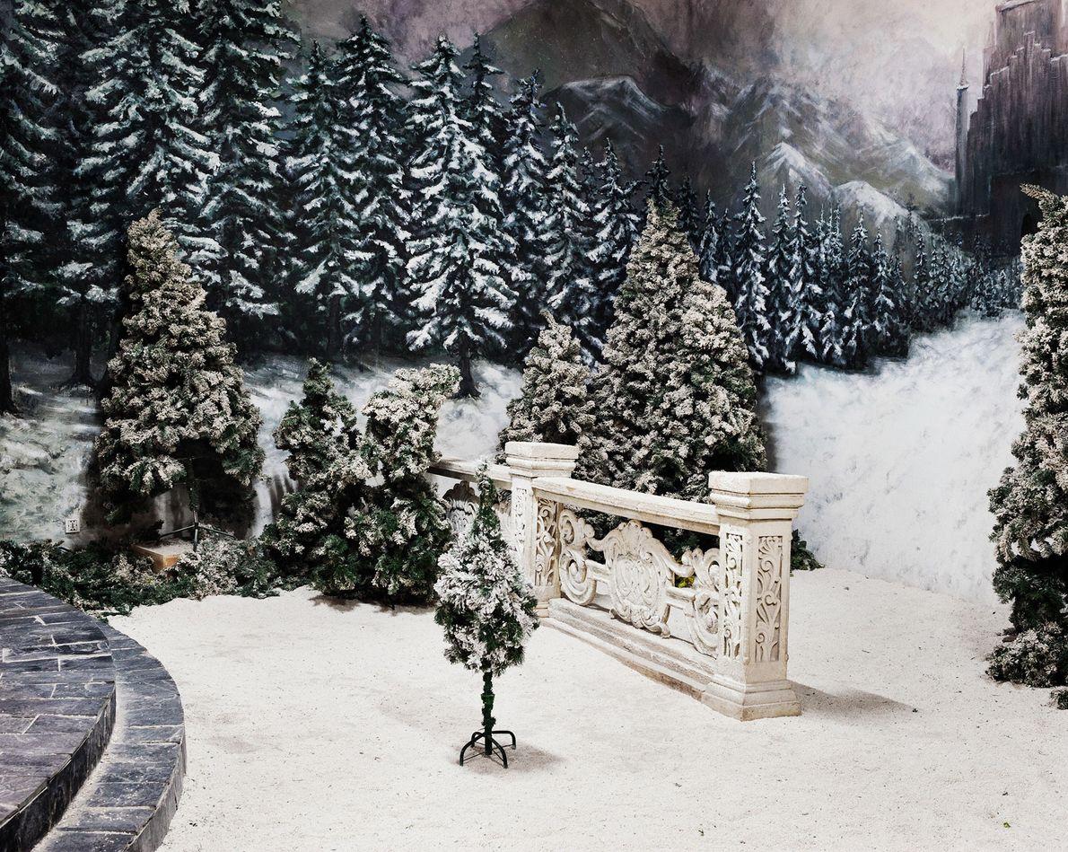 Cenários de inverno também são populares.
