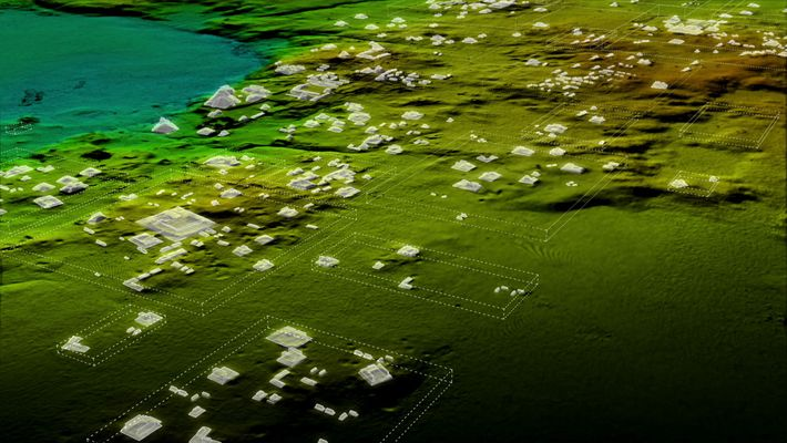 imagem do lidar de megalópole maia