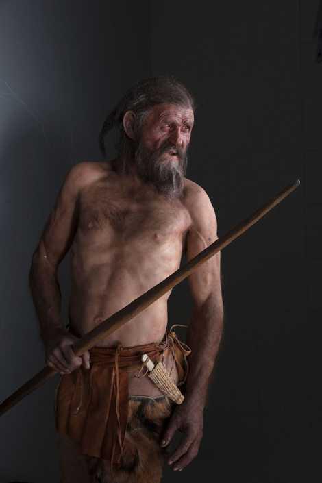 Uma reconstituição do Homem de Gelo, que tinha cerca de 40 anos de idade.