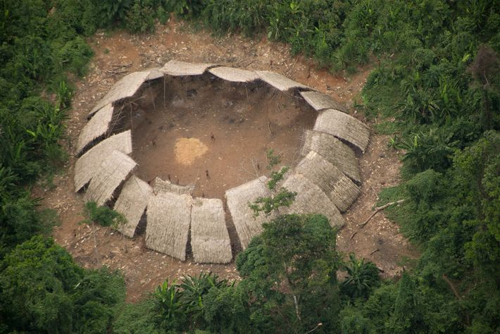 Os habitantes de Moxihatetema, no coração do território indígena Yanomami, no estado de Roraima, sempre evitaram ...
