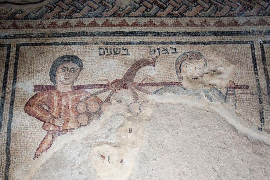Espiões bíblicos revelados em mosaico de 1,5 mil anos