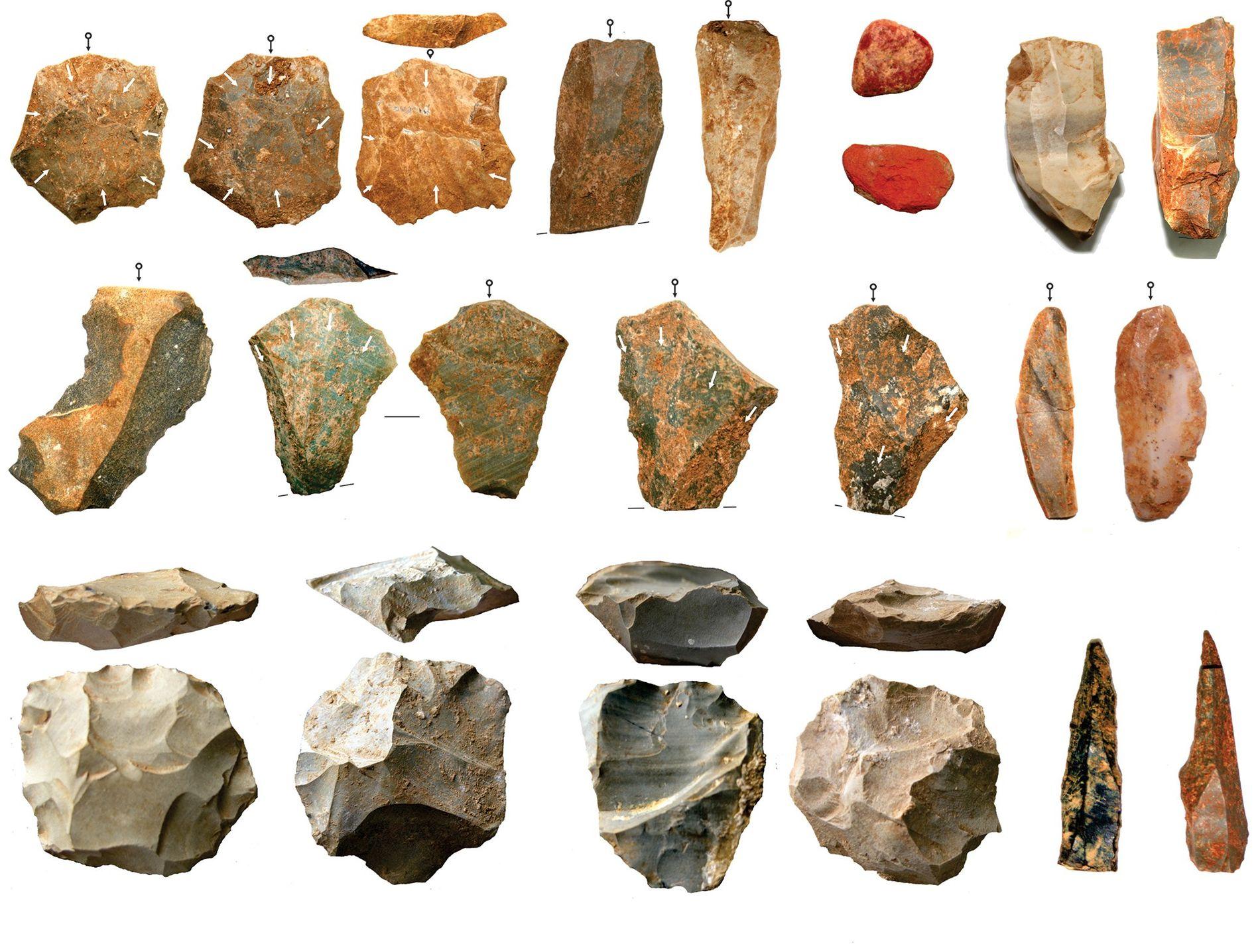 Pesquisadores relatam a descoberta de uma grande coleção de artefatos de pedra retirada de escavações arqueológicas ...