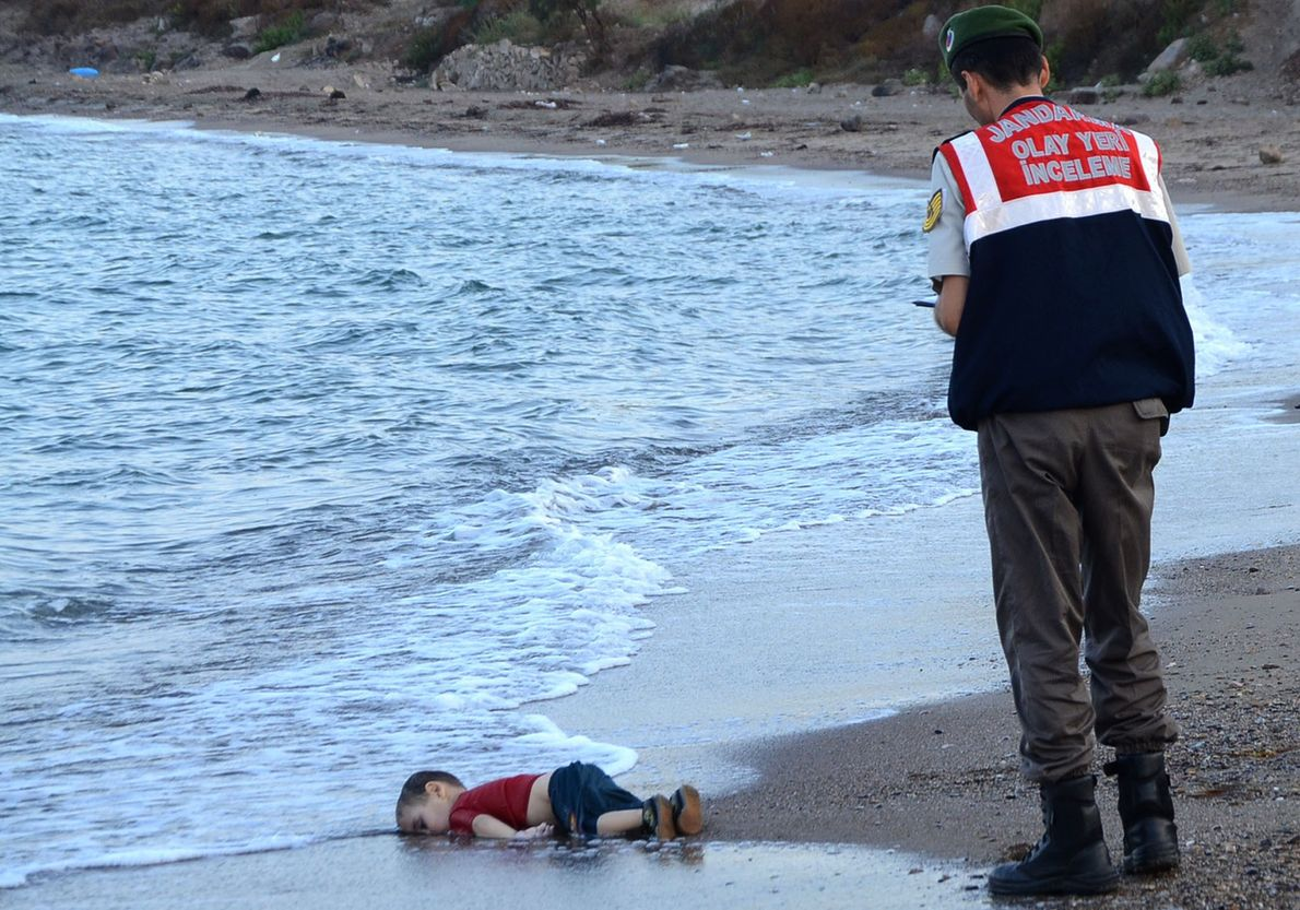 The dead toddler was one of the thousands of refugees who have died this year fleeing ...