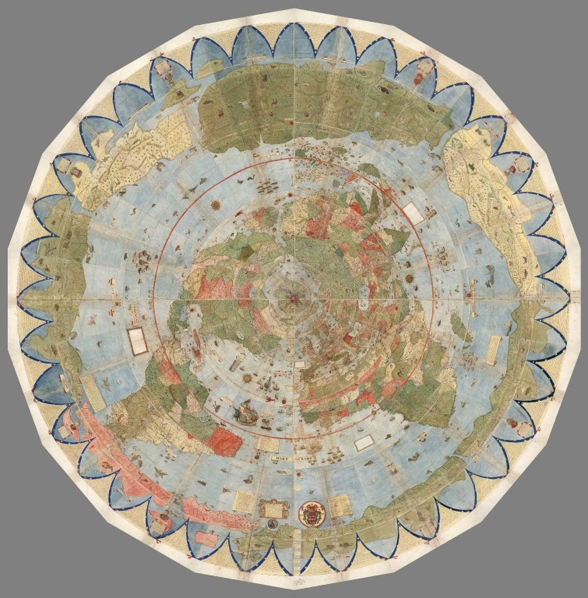 mapas unidos com anéis concêntricos