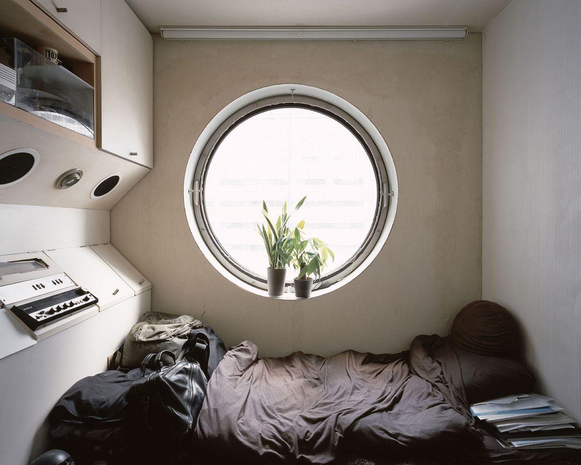 Exemplo de cápsula usada pelo ocupante como residência em tempo integral.