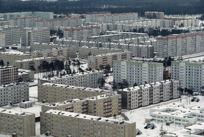 A cidade de Pripyat foi construída para servir de moradia para os operários da usina nuclear ...