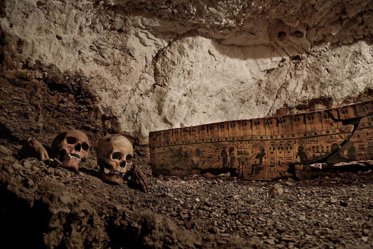 A tumba do ourives leva a outras duas câmaras de sepultamento. O ourives viveu há mais ...