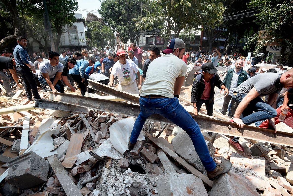 escombros terremoto méxico