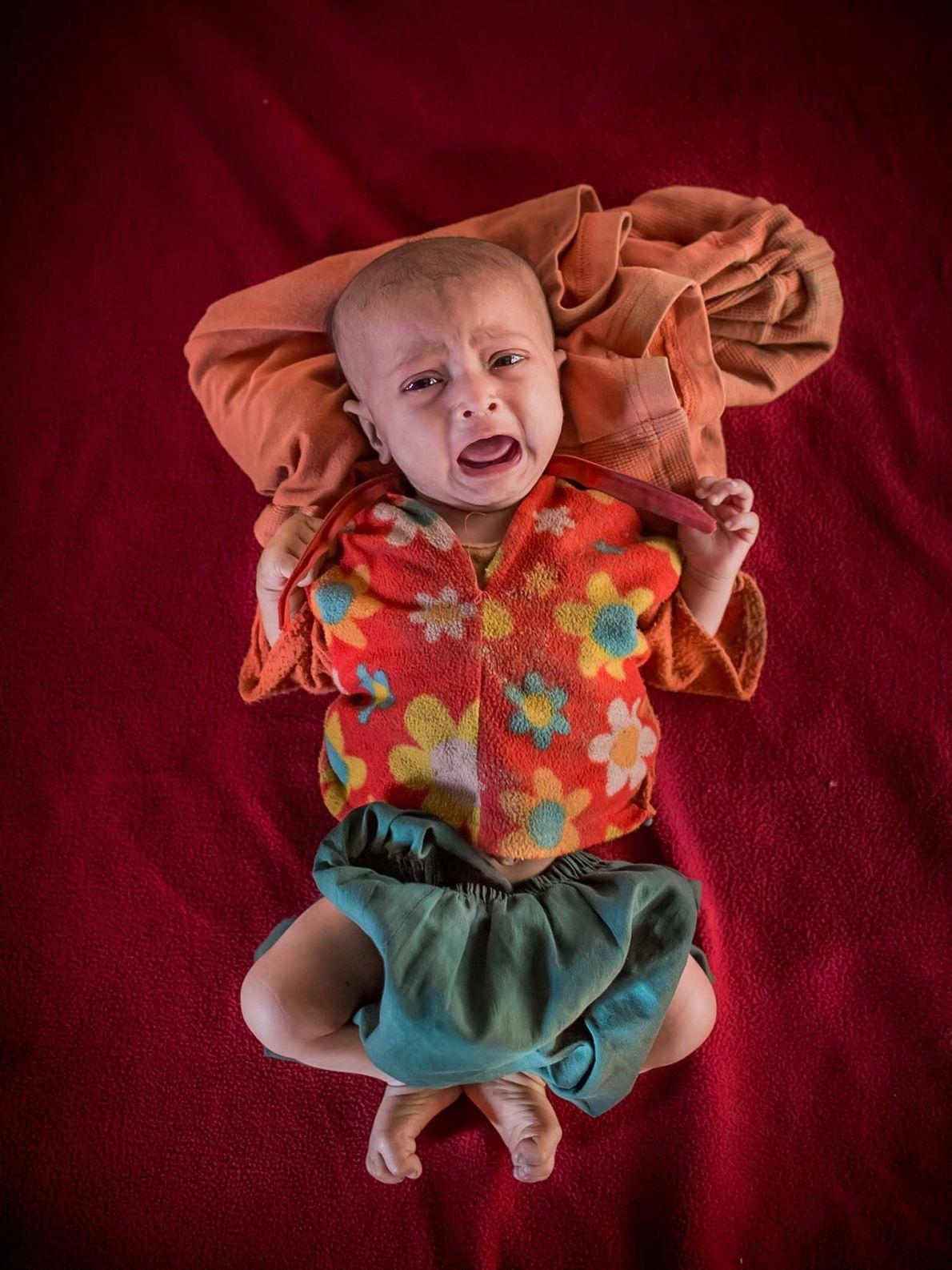 Shahida, dois meses de idade.