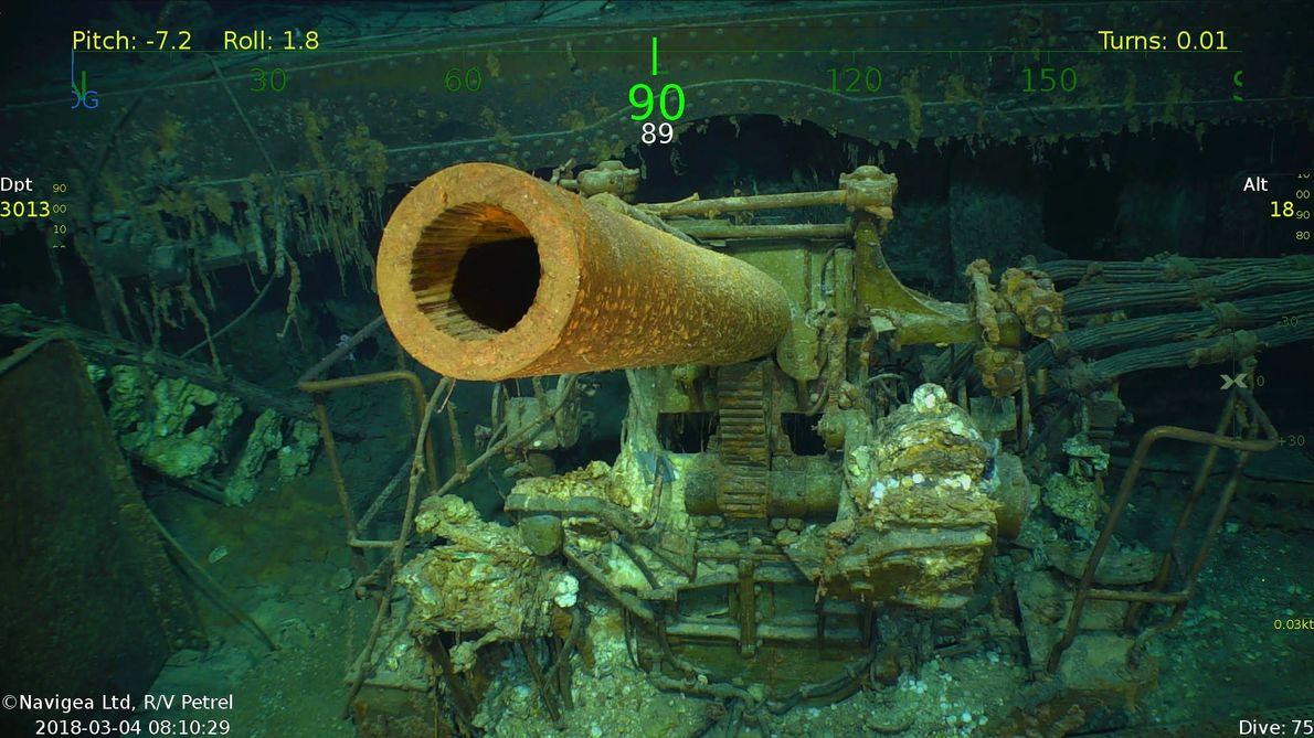 Encontrado porta-aviões americano naufragado na Segunda Guerra