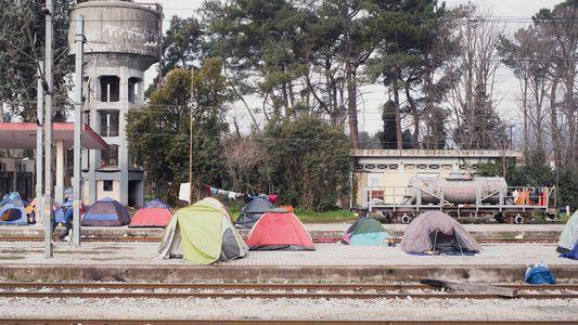 Acampamento de refugiados