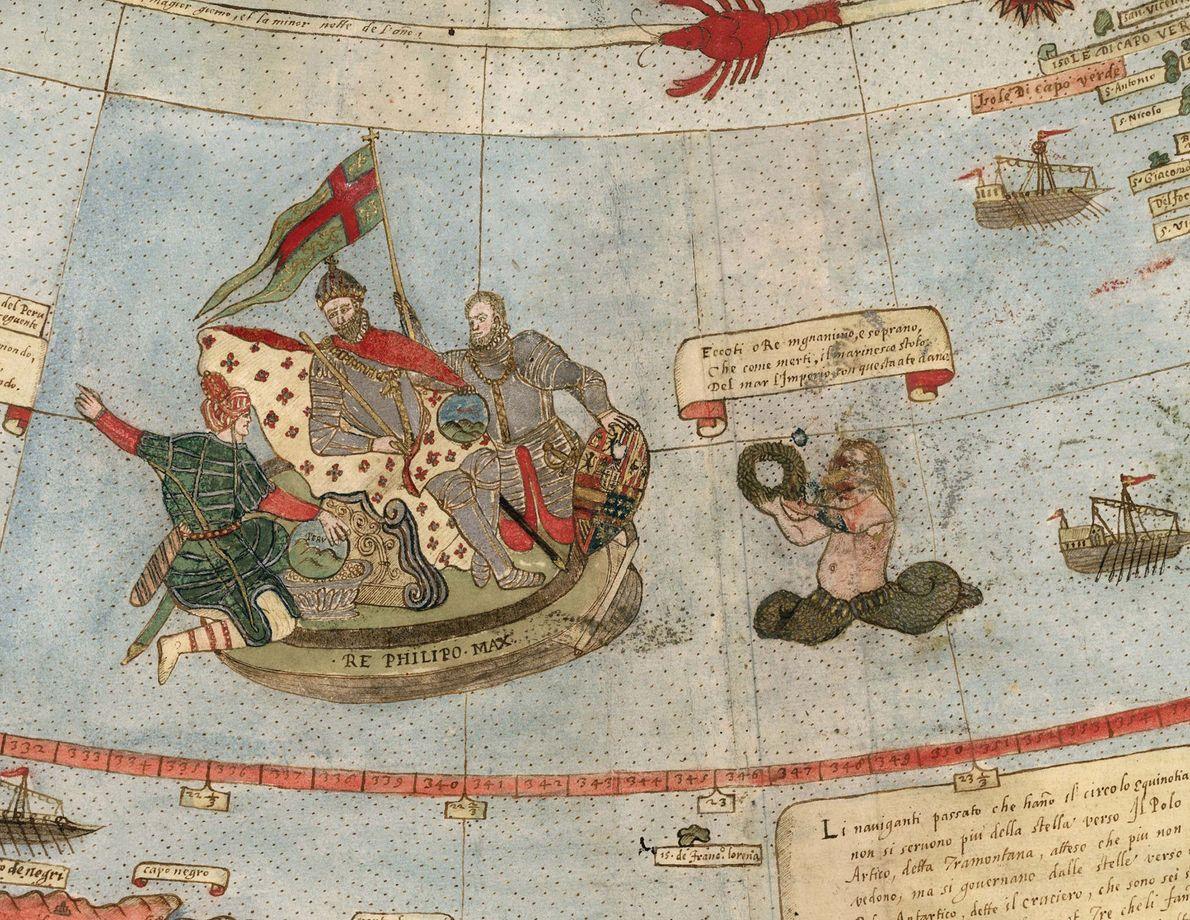 tritão é retratado em mapa de Urbano Monte