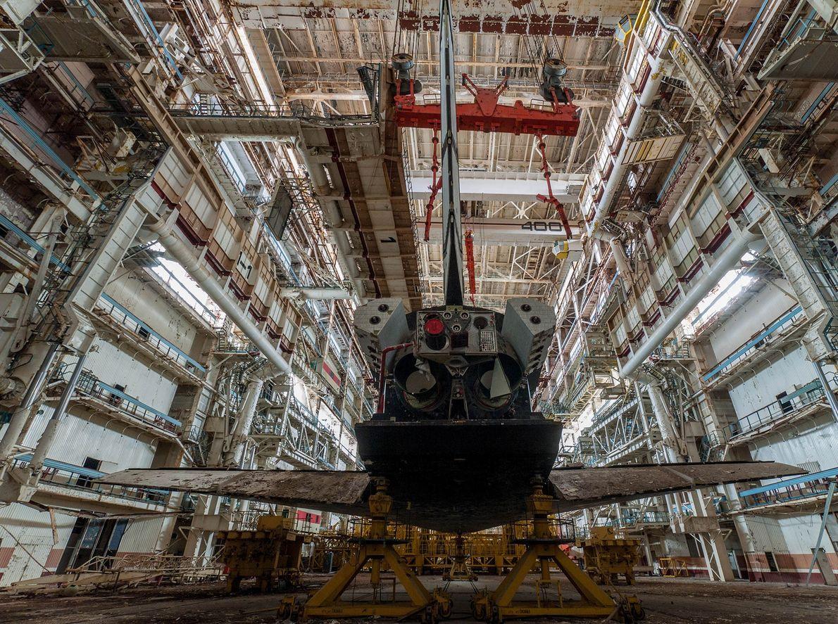 Parte de trás da Nave espacial russa