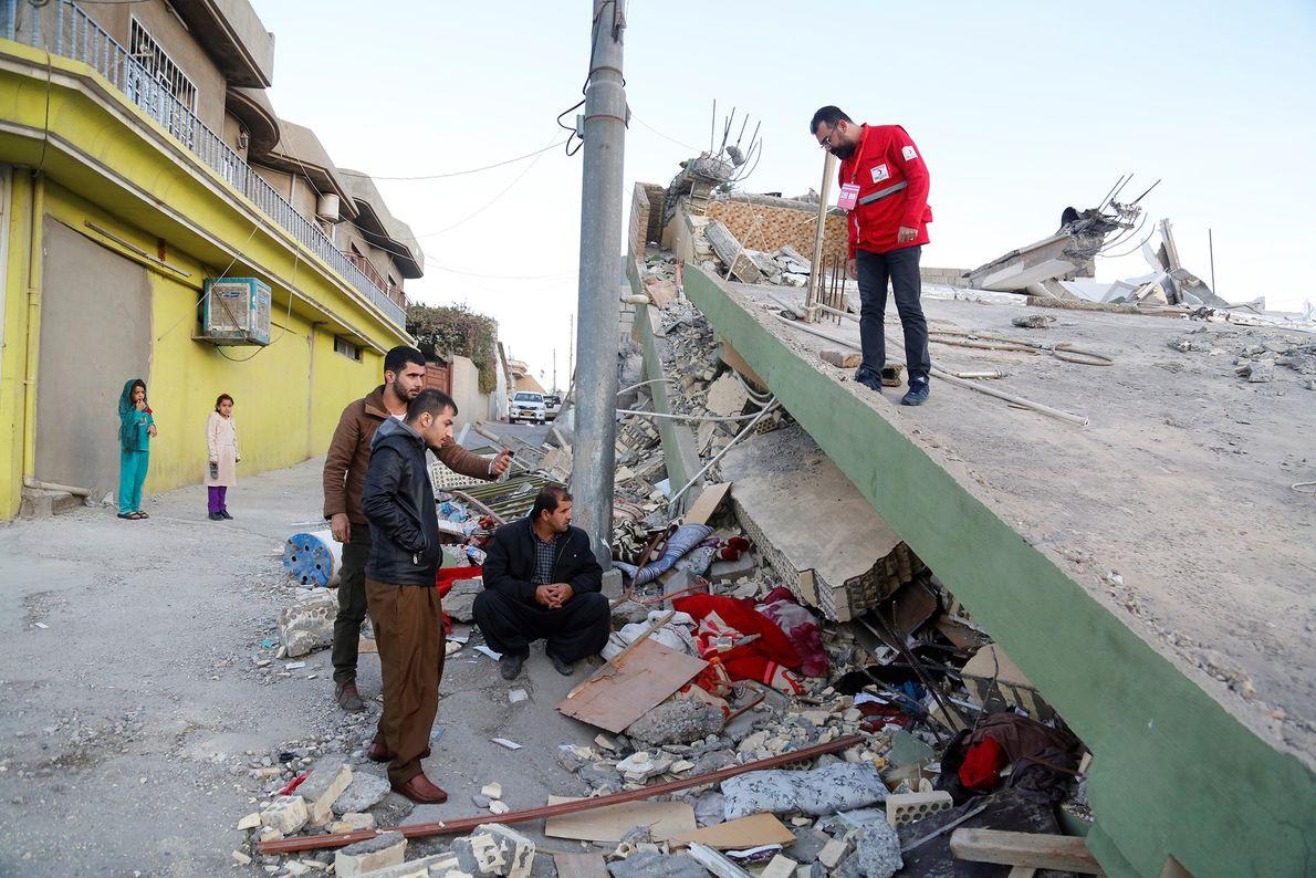 equipe da Turkish Red Crescent no Iraque