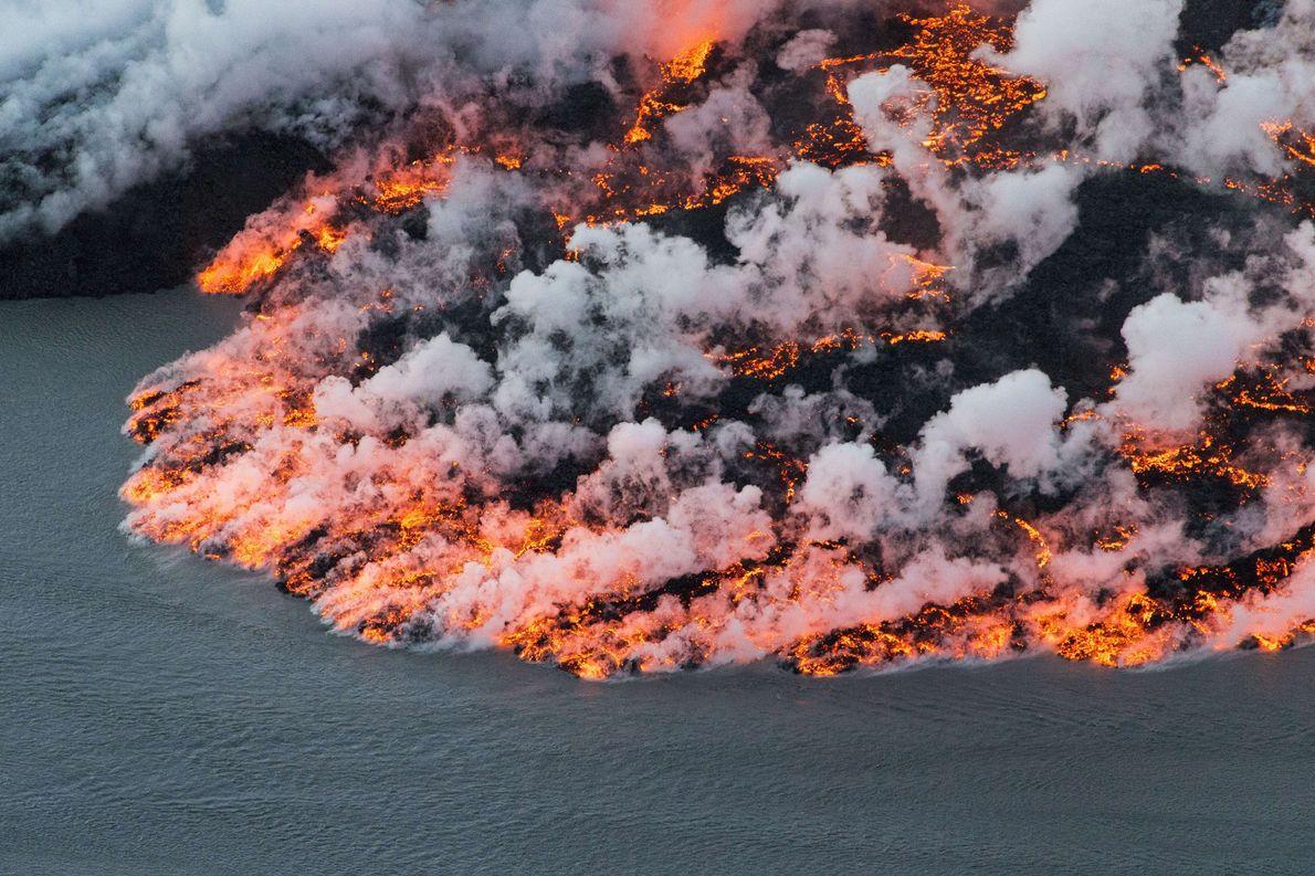 O vulcão Bárðarbunga, na Islândia, é uma zona de extremos: sua cratera central está enterrada sob ...