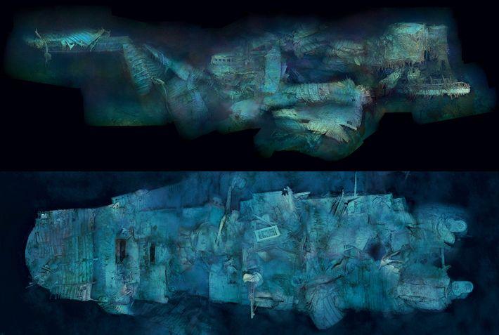 A primeira visão global do histórico naufrágio