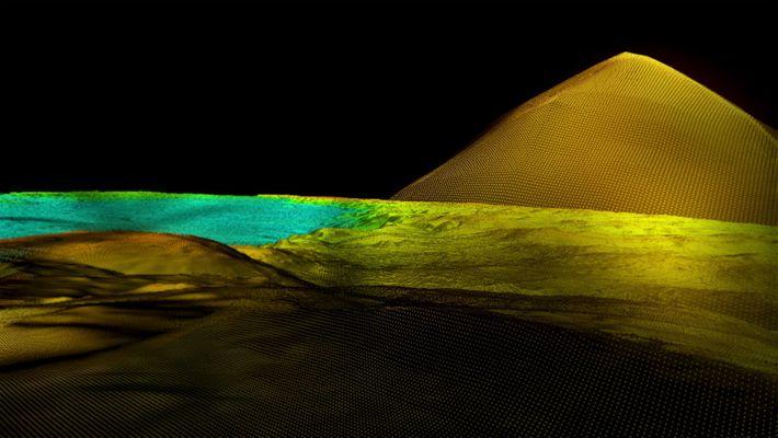 pirâmide revelada por LiDAR