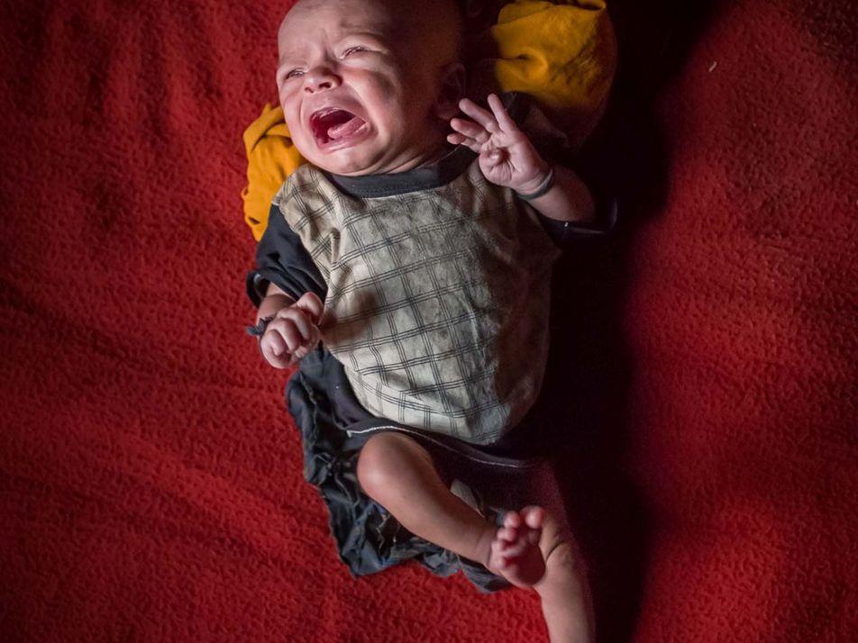 Fotos: Bebês de refugiados que nascem sem um lugar para chamar de lar