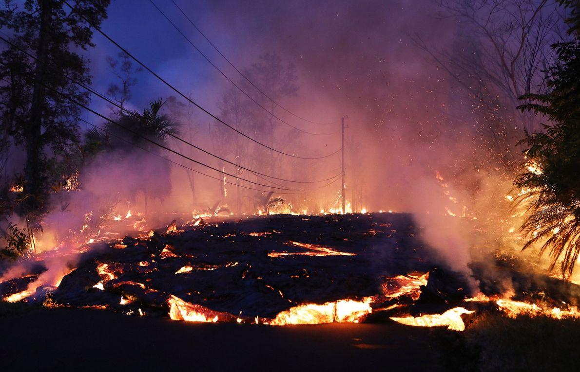 Em 2018, o vulcão Kilauea, no Havaí, envolveu mais de três décadas de erupções quase contínuas ...