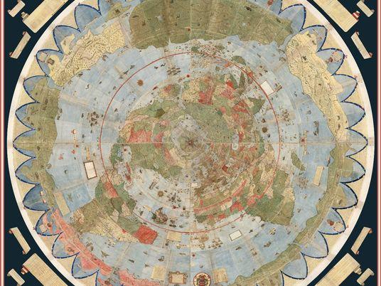 Grande e bizarro mapa do século 16 é montado pela primeira vez