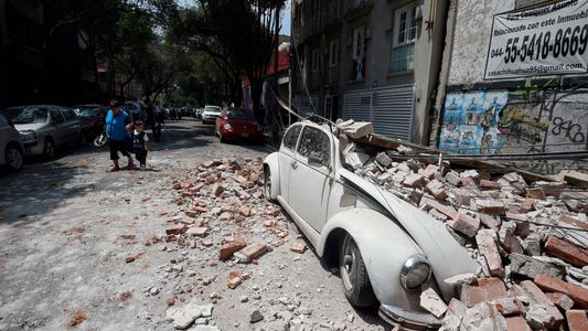 Imagens após terremoto de magnitude 7.1 no México