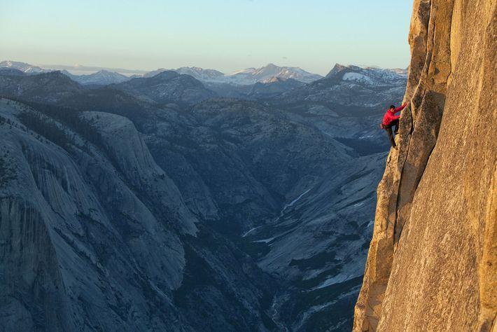 """No Big Deal Honnold"" no Half Dome, em Yosemite"