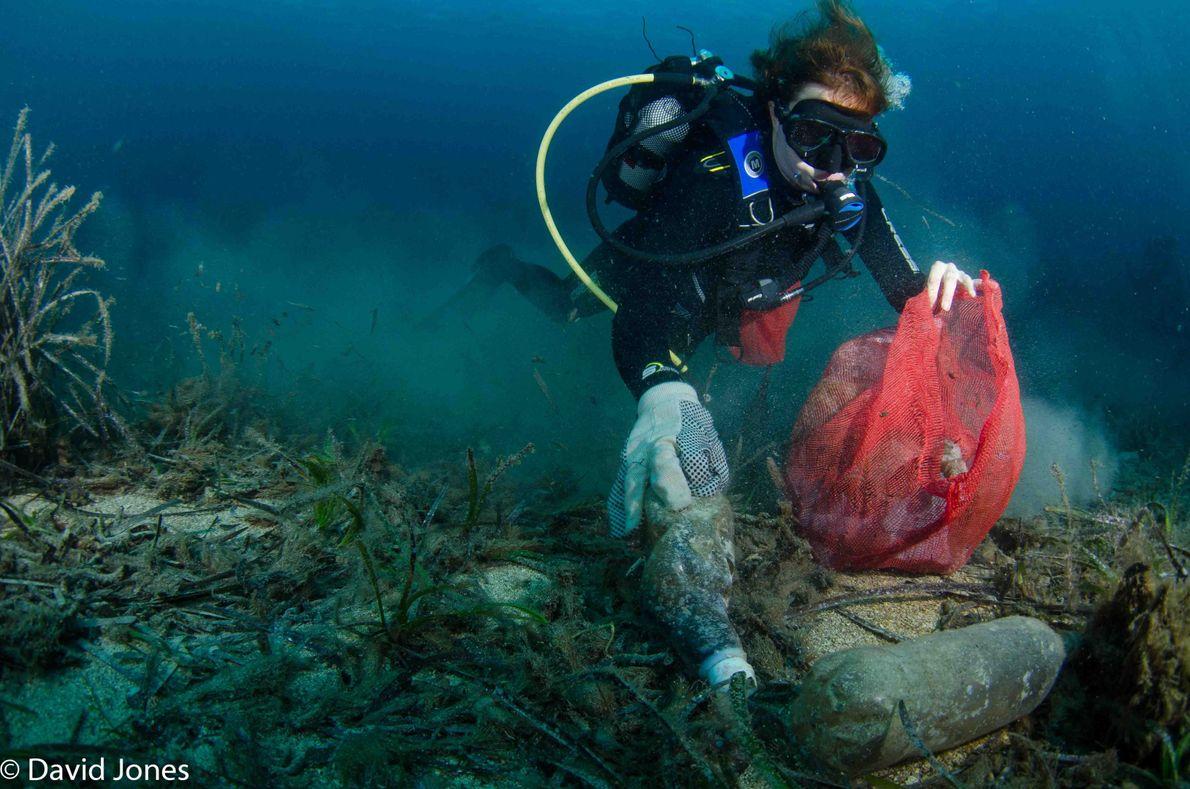 Cerca de 700 espécies de animais marinhos já comeram ou se entrelaçaram ao plástico, segundo estimativas.