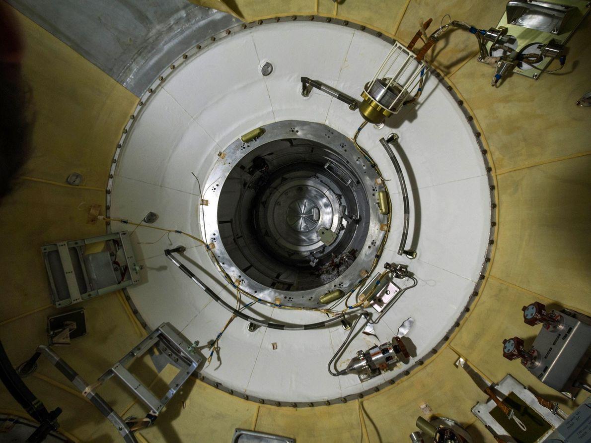 Interior da Nave espacial russa